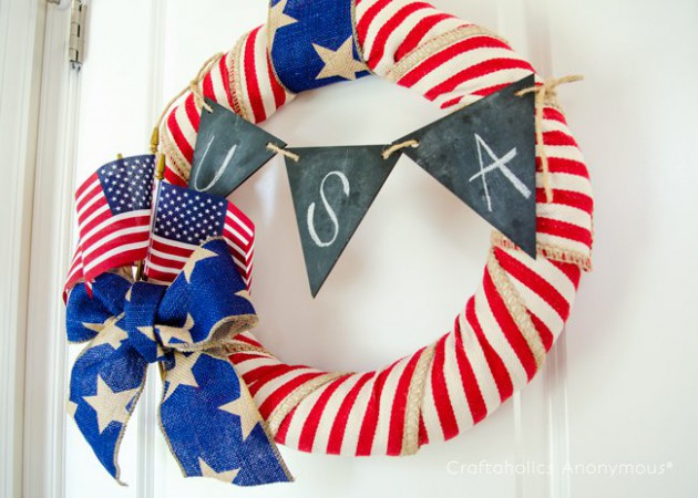 17 Impressive DIY Patriotic Wreath Ideas