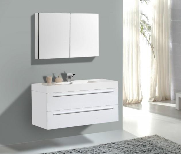 19 Astounding Contemporary Bathroom Cabinet Designs