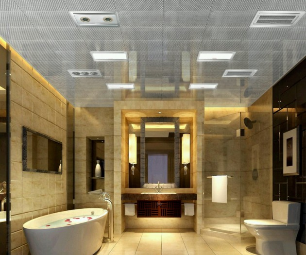 17 Extravagant Bathroom Ceiling Designs That You'll Fall