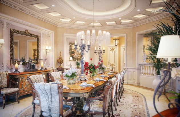 19 Extremely Amazing Ideas For Decorating Luxury Dining Room