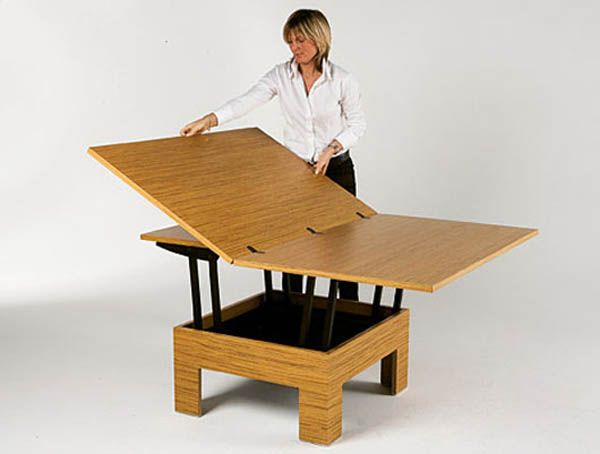 Super smart space saving table designs for every small space - Mesa de comedor plegable a la pared ...