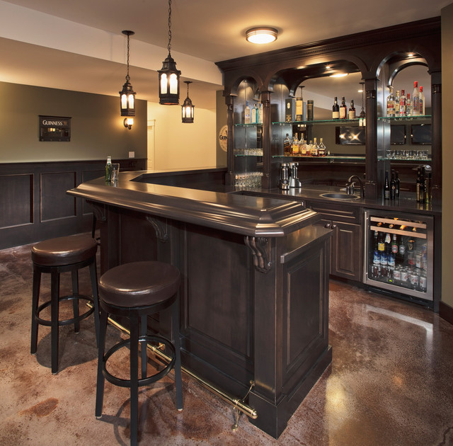 Home Bars Design Ideas: 15 Astonishing Traditional Home Bars For Your Daily