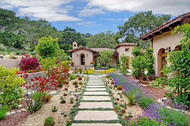 18 cultivated mediterranean landscape designs that will for Mediterranean garden design