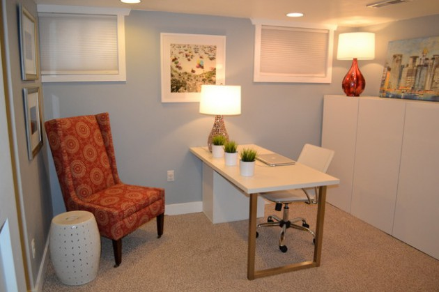 Basement Office Design Property your unused basement into productive home office