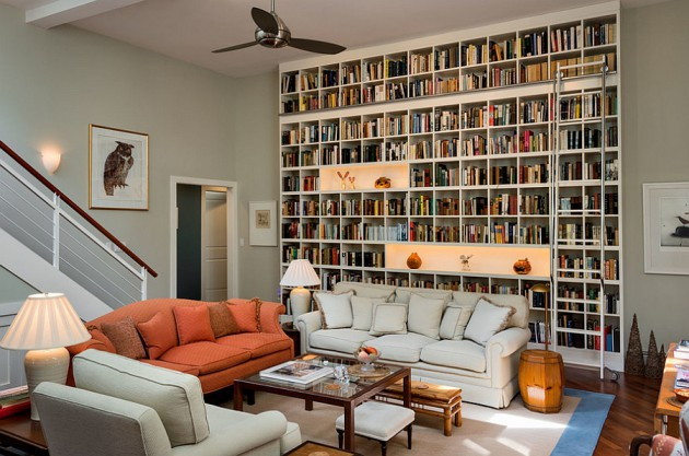 10 Practical Ideas How To Make Wall Library