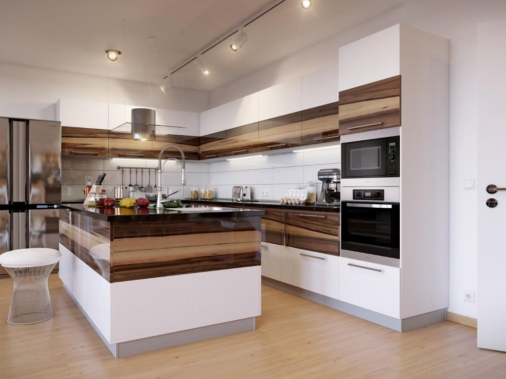 Прямые кухни фото дизайн 2016-2017 года новинки
