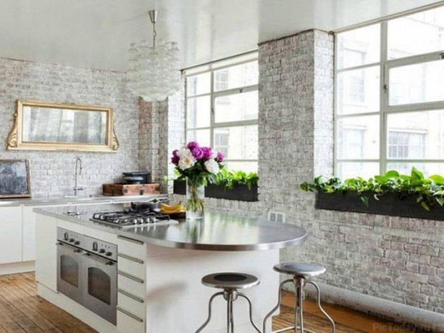 16 White Brick Wall Interior Designs To Enter Elegance In The Home