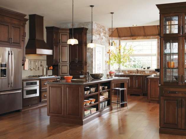 Wood Flooring Ideas With Dark Cabinets