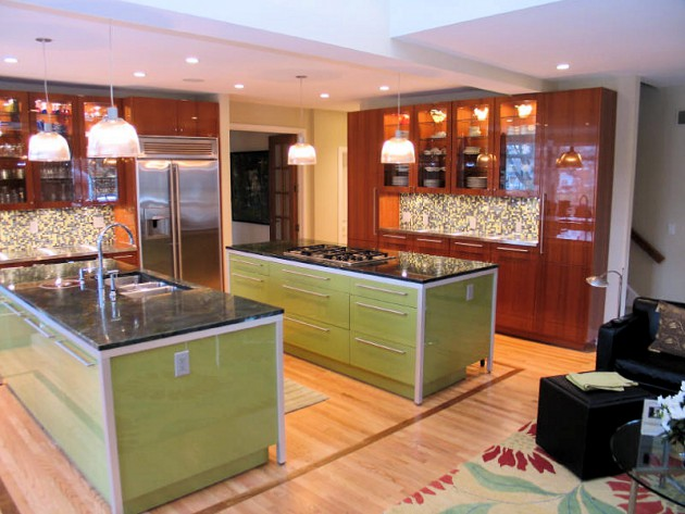 stunning kitchen designs  double kitchen island