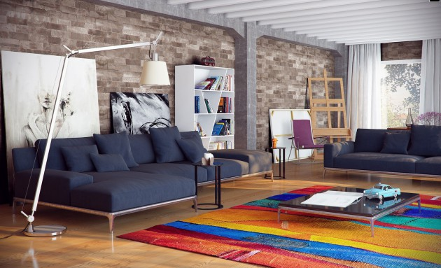 19 Cheerful Colorful Living Room Design Ideas