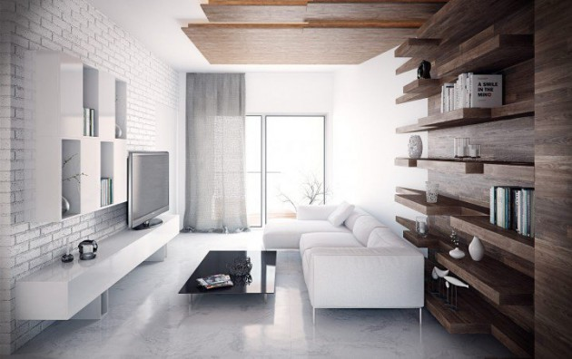 16 White Brick Wall Interior Designs To Enter Elegance In
