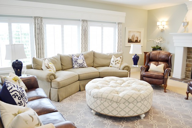 Beautiful Living Room Design Ideas With Ottoman