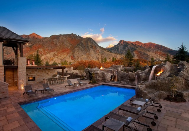 15 sensational rustic swimming pool designs that will take for Pool design utah