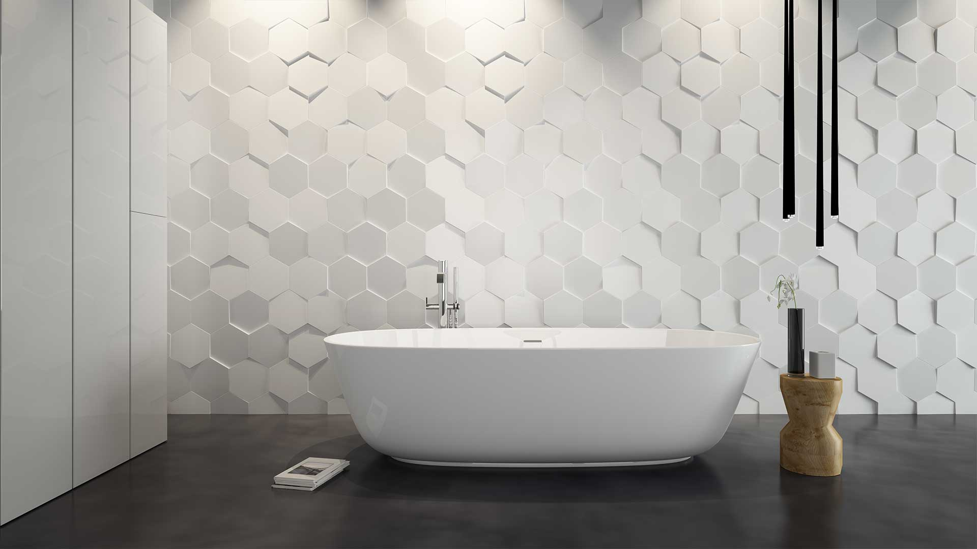 18 beautiful ideas for modern tiles in the bathroom for Bathroom ideas 3d