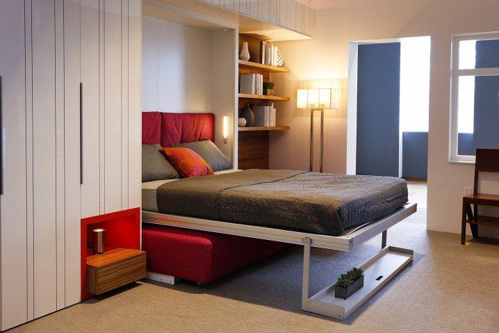 В зале кроватка дизайн