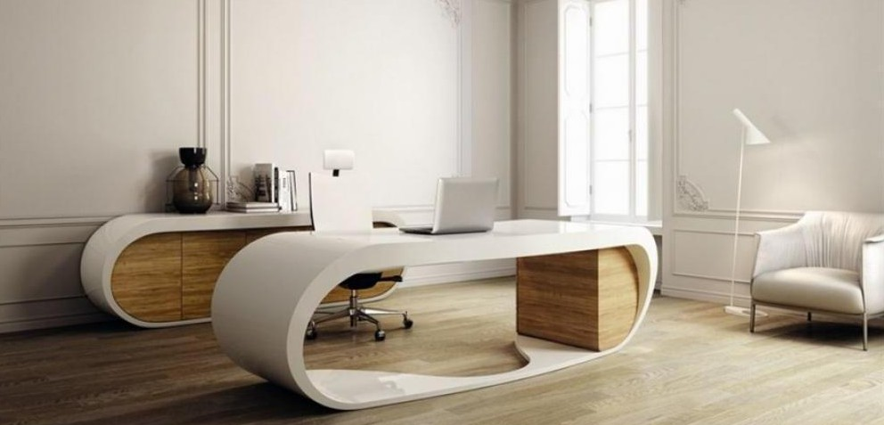 Modern Home Office Ideas White from www.architectureartdesigns.com