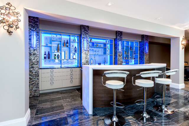 17 incredible contemporary home bar designs you 39 re going for Modern bar designs for home
