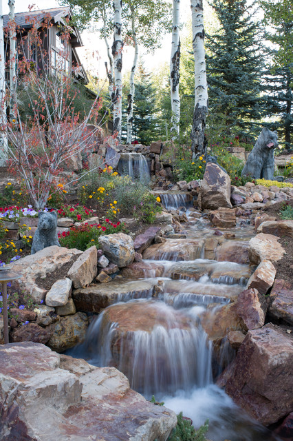 17 Spectacular Rustic Landscape Designs That Will Leave ... on Mountain Backyard Ideas id=47480