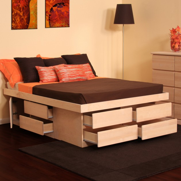 18 space saving bed with storage design ideas for small spaces Bed designs for small spaces