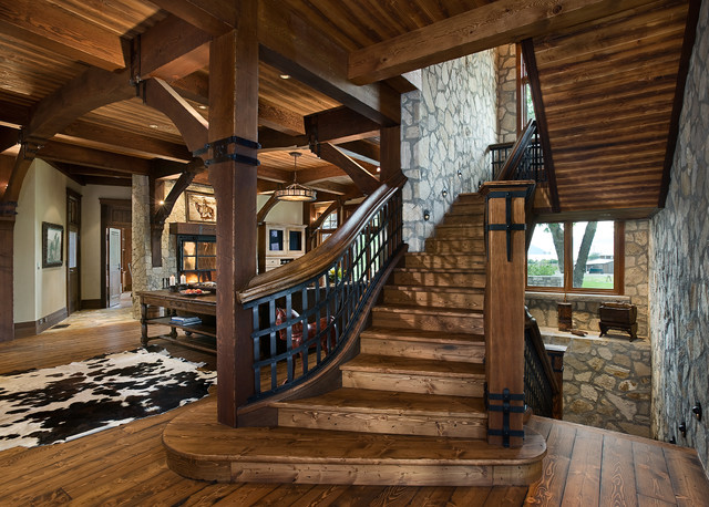 Home Design Ideas Pictures: 20 Uplifting Rustic Staircase Designs That You Can't Dislike