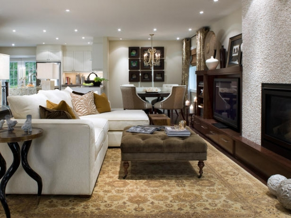 48 Beautiful Living Room Design Ideas With Ottoman Fascinating Living Rooms With Ottomans