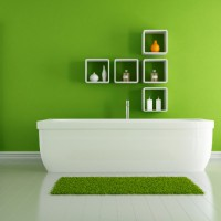 green modern bathroom