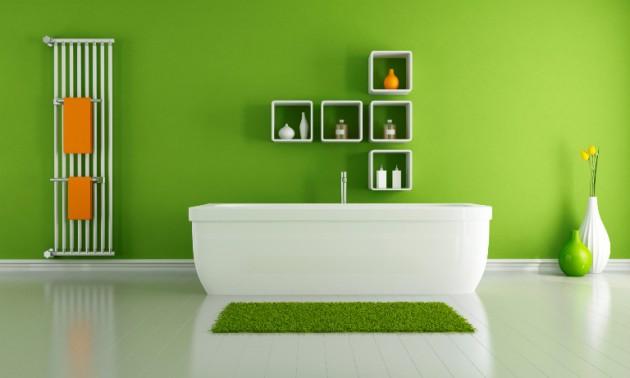 10 Fresh Green Bathroom Design Ideas