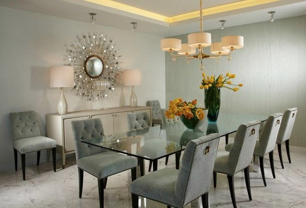 Brilliant Dining Room Designs With Glass Table