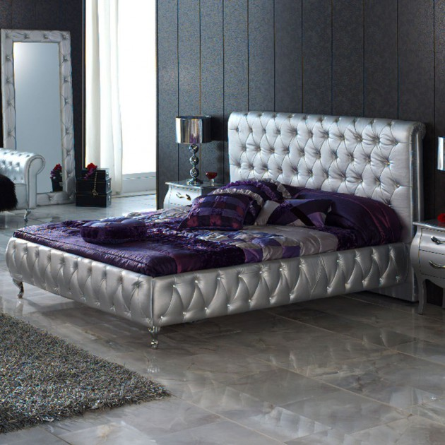 purple silver bedroom 14 silver bedroom designs for royal look in the home 13009
