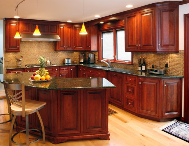 cherry kitchen ideas 16 kitchen cabinets made out of cherry wood 10980