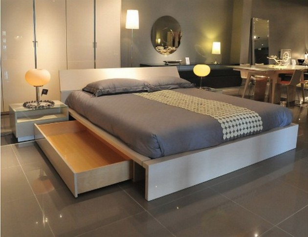 space saving bed  storage design ideas  small spaces