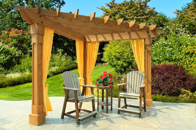 17 Engrossing Ideas To Make Your Yard More Enjoyable With Pergola With Curtains