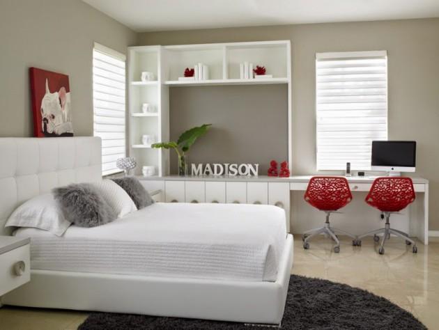 17 Divine Combinations Of Red Grey In The Bedroom