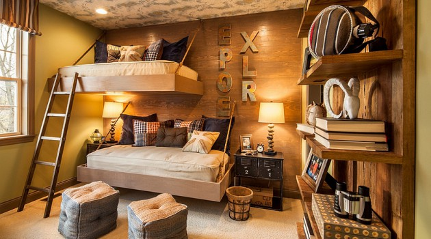 19 Charming Rustic Child's Room Design Ideas