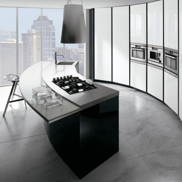 What Is Ethanol >> 16 Divine Modern Kitchen Designs With Curved Kitchen Island