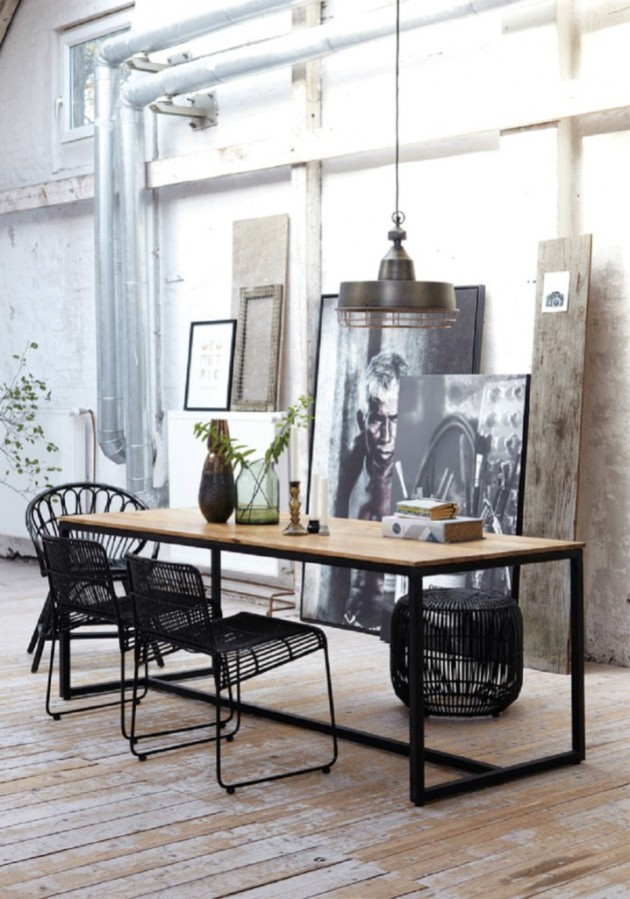 Superb Industrial Dining Room Ideas Part - 4: 19 Chic Industrial Dining Room Design Ideas