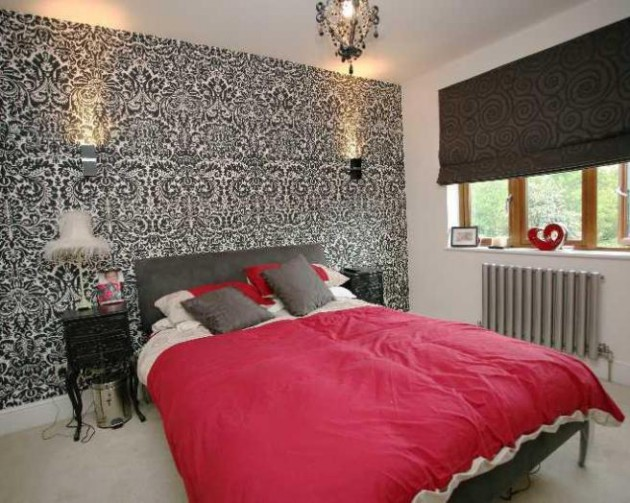 17 Divine Combinations Of Red & Grey In The Bedroom