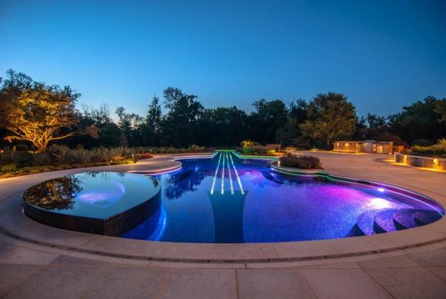 15 Attractive Swimming Pool Lighting Ideas