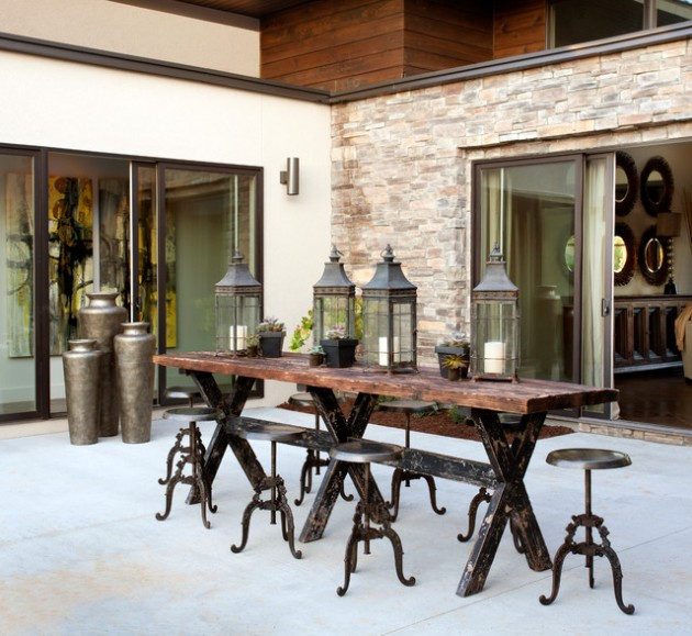 Lovely Industrial Dining Room Ideas Part - 14: 19 Chic Industrial Dining Room Design Ideas