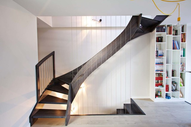 16 Incredible Contemporary Staircase Designs That Will