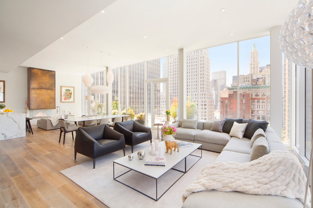 Modern New York City Penthouse. 18 Outstanding Modern Living Room Designs  ...