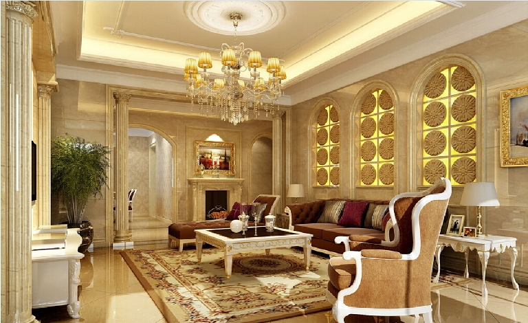 Glamorous Living Room Ideas That Exudes With Sophistication - Golden living room