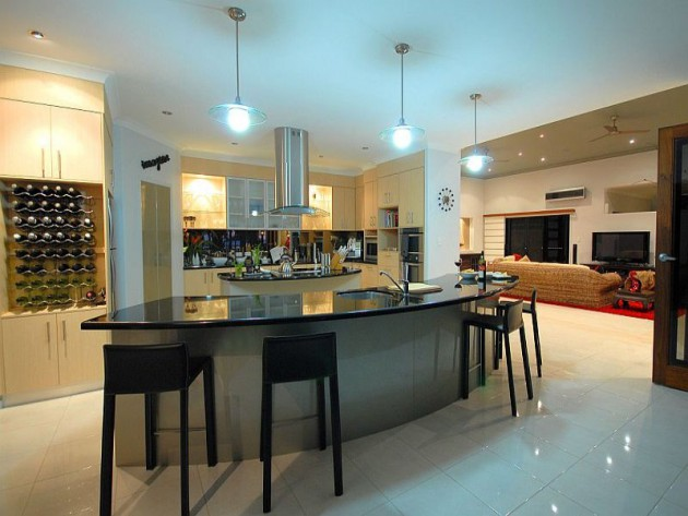 16 Divine Modern Kitchen Designs With Curved Kitchen Island