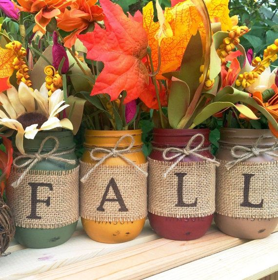 Top the cheapest diy fall decorations with mason jars