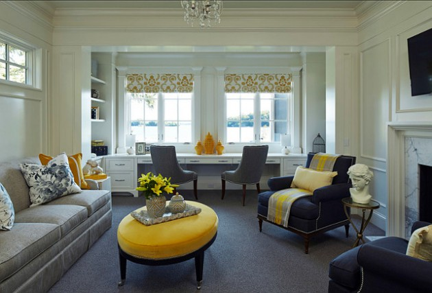 18 Splendid Home Office Designs With Yellow Flair