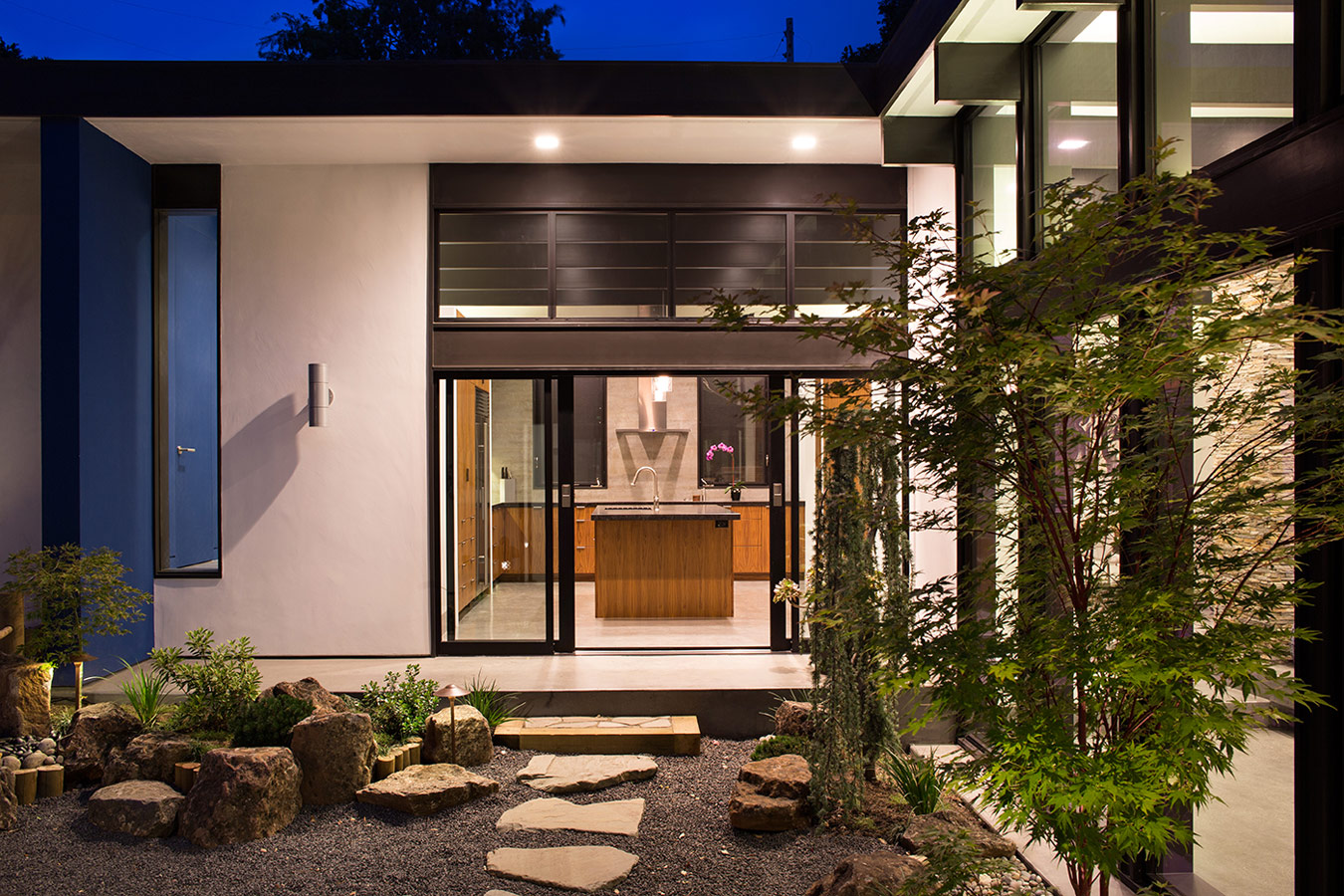 Modern Atrium House by Klopf Architecture