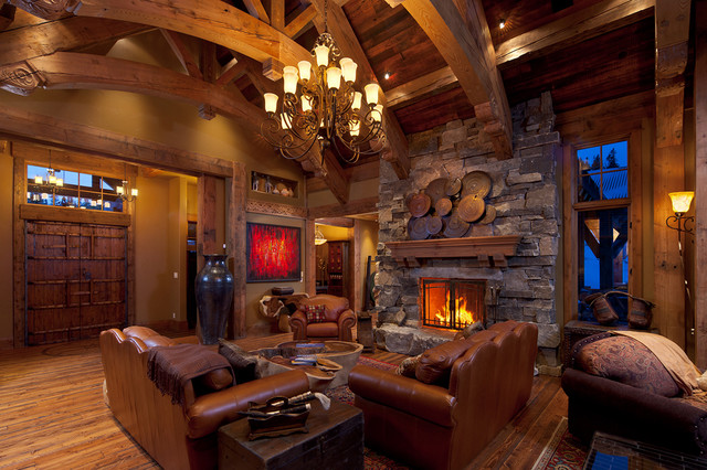 charming empty living room fireplace | 19 Stunning Rustic Living Rooms With Charming Stone Fireplace