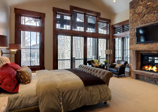 15 Magnificent Master Bedrooms With Fireplace
