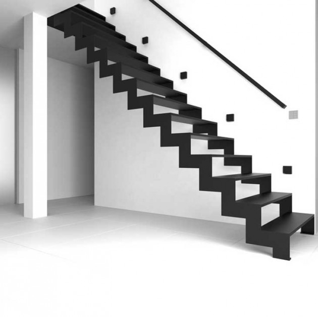 Dramatic Staircase As Decoration In Your Home