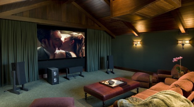 Wonderland Room For The Whole Family- 18 Marvelous Attic Home Cinema Designs